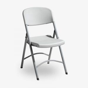 grå fällbar klappstol norman plast utomhusbruk