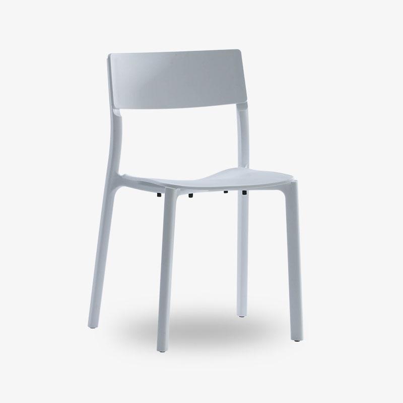 staplingsbar stol vit svart
