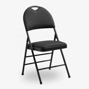 fällbar klappstol konferensstol toronto svart tygsits