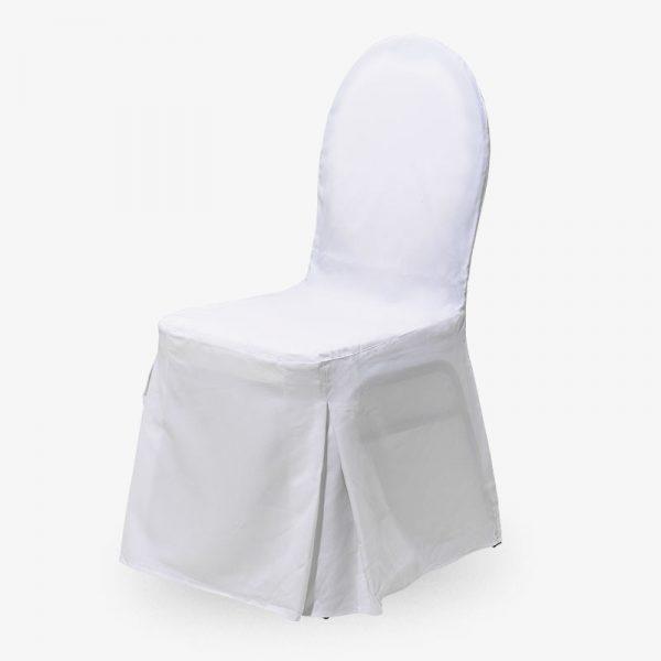 vitt stolsöverdrag class konferensstol stapelbar