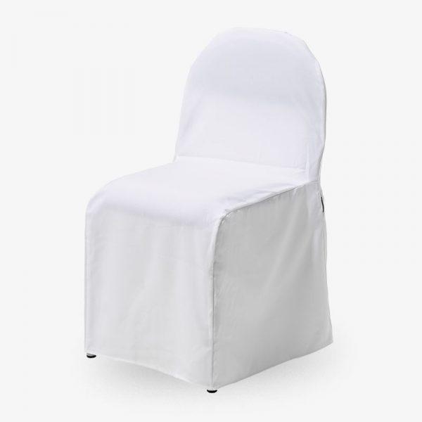 vitt stolsöverdrag rx002 konferensstol stapelbar