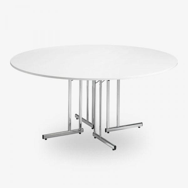 fällbart runt bord vit, runda bord, runt bord