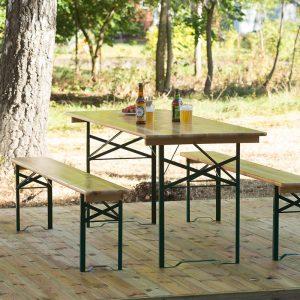 berlin bänkset fällbart fällbara bord bänk furu festival fest restaurang
