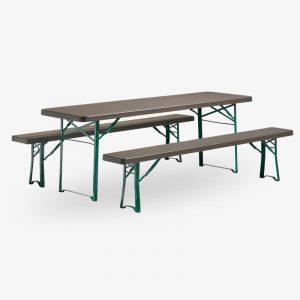 fällbart bord plast munich tåligt brun grön