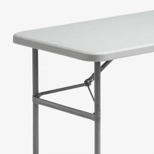 fällbord fällbart bord plast utomhus grå stålstativ