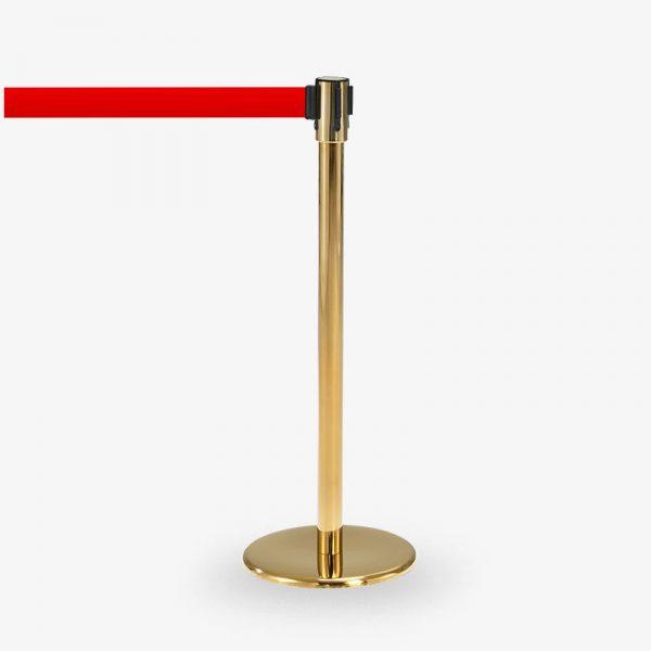 avspärrningsstolpe Köstolpe Royal Mässing Rött band - Tabell