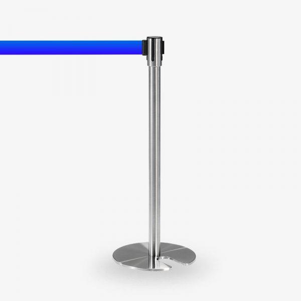 avspärrningsstolpe Köstolpe Royal rostfritt blått band