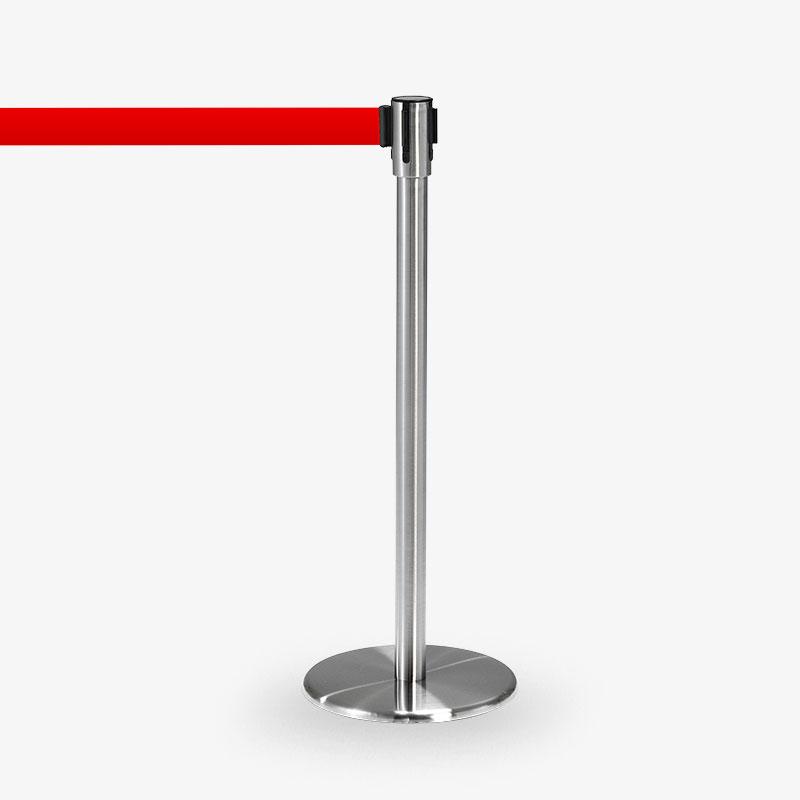 avspärrningsstolpe Köstolpe Royal Rostfritt Rött band - Ej stapelbar - möbel