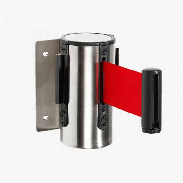 Väggkassett band - Rostfritt stål med rött band - Plast