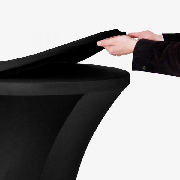 Svart vit stretchtoppar ståbord