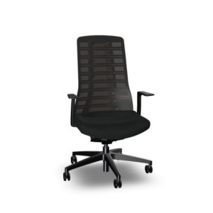 svart ergonomisk kontorsstol